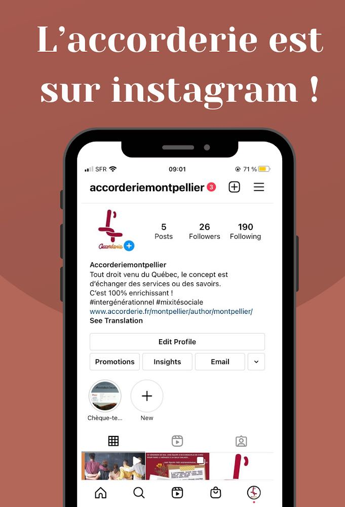 L'Accorderie Montpellier est sur Instagram